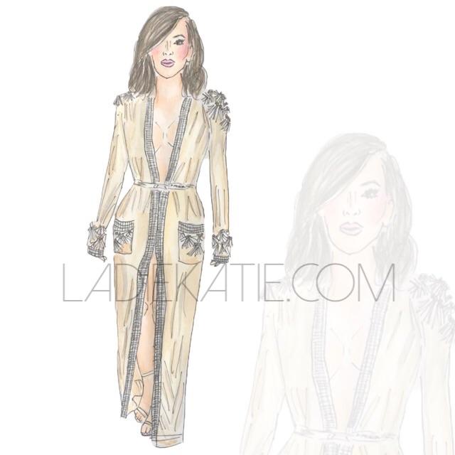 Kim Kardashian West watercolor